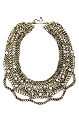 Baublebar 'Twinkle Chain' Bib Necklace Antique Gold