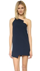 Mason By Michelle Mason One Shoulder Shift Dress Navy