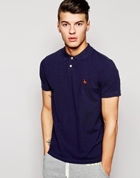 Jack Wills Polo With Pheasant Logo Blue