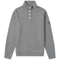 Barbour International Steve Mcqueen Wrench Half Button Sweat Grey