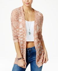 American Rag Space Dyed Open Front Cardigan Only At Macy's Russet Brown