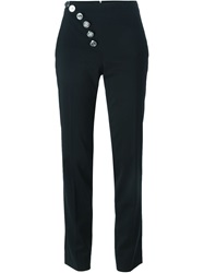 Versus Logo Button Trousers Black