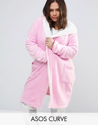 Asos Curve Bunny Robe Pink