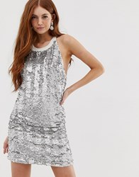 Deby Debo Bozozka Embellished Slip Dress Silver