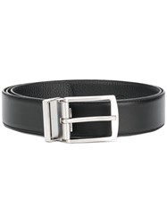 Giorgio Armani Classic Buckle Belt Black