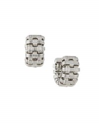 Roberto Coin Appassionata 18K White Gold Mini Hoop Earrings