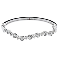 Cachet London Rhodium Plated Swarovski Crystal Laura Bangle