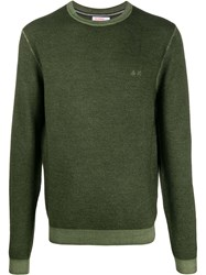 Sun 68 Vintage Look Jumper Green
