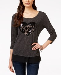 Styleandco. Style And Co. Embellished Sequin Heart Top Only At Macy's