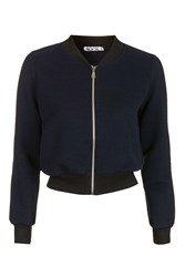 Wal G Rib Bomber Jacket By Navy Blue