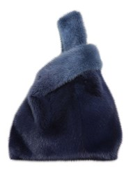 Simonetta Ravizza Furissima Gradient Mink Fur Bag Denim