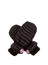 Canada Goose Lightweight Quilted Mittens Black