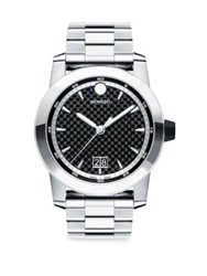 Movado Vizio Stainless Steel Bracelet Watch Black