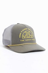The North Face Cross Stitch Trucker Hat Brown