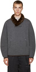 Kolor Grey Stretch Wool Pullover