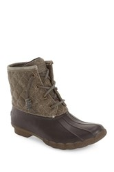 Sperry Saltwater Quilted Duck Boot Brown