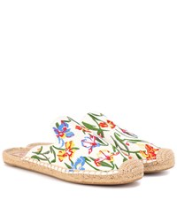 Tory Burch Max Printed Espadrille Slides Multicoloured