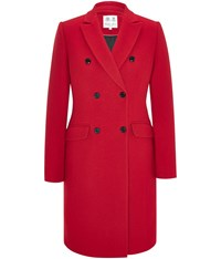Austin Reed Red Double Breasted Classic Coat