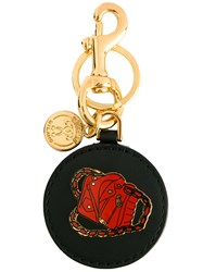 Moschino Biker Bag Keyring Black