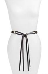 Women's Hinge Braided Tie Leather Belt