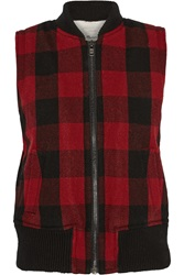 Madewell Plaid Wool Blend Vest