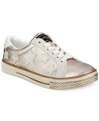 Bebe Destine Lace Up Sneakers Women's Shoes Rose Gold