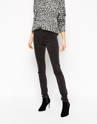 Selected Gaia Skinny Jeans With Ripped Knees Blackdemin