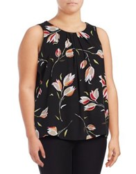 Context Plus Printed Sleeveless Top Black Combo