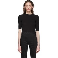 Rosetta Getty Black Cropped Sleeve T Shirt