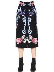 Temperley London Tattoos Embroidered Poplin Midi Skirt