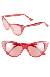 Women's Isaac Mizrahi New York 52Mm Cat Eye Sunglasses Pink
