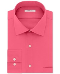 Van Heusen Men's Classic Regular Wrinkle Free Fit Flex Collar Stretch Solid Dress Shirt Fuschia