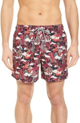 Ted Baker 'S London Karner Print Swim Trunks Red