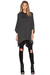 Riller And Fount Otto Hooded Poncho Charcoal