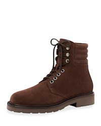 Aquatalia By Marvin K Heath Waterproof Suede Lace Up Boots Brown