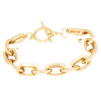 Adele Marie Gold Plated White Chunky Chain Bracelet Gold