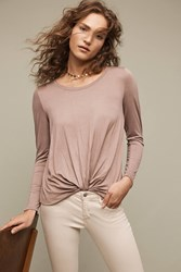 Anthropologie Agency Twist Front Top Taupe