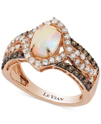 Le Vian Chocolatier Opal 7 8 Ct. T.W. And Diamond 9 10 Ct. T.W. Ring In 14K Rose Gold
