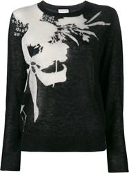 Dries Van Noten Nessa Floral Intarsia Jumper Black