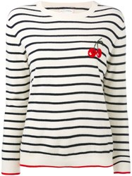 Chinti And Parker Cherry Breton Sweater Women Cashmere M Nude Neutrals
