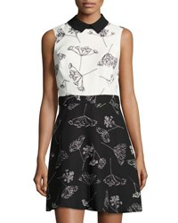 Cynthia Steffe Dandelion Print Sleeveless Dress Black