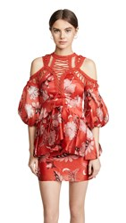 Thurley Folklore Print Dress Red Floral