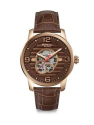 Breil Milano Automatic Rose Gold Watch Brown