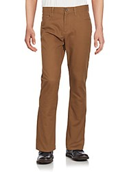 Perry Ellis Slim Fit Five Pocket Pants Sepia