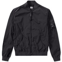 C.P. Company Nycra Stretch Arm Lens Bomber Jacket Black