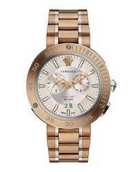 Versace V Extreme Pro Multifunction Dual Time Watch With Bracelet White