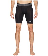 Nike Pro Hypercool Short Black Anthracite Metallic Hematite Men's Shorts