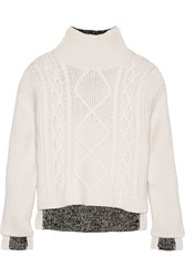Rag And Bone Ida Wool Ribbed Knit Sweater Off White