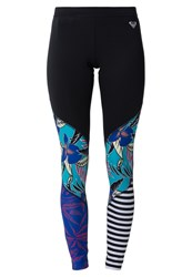 Roxy Polynesia Tights Pop Floral Combo Black