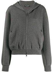 Dolce And Gabbana Cashmere Hoodie Grey